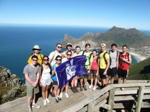 Table Mountain South Africa hike - med students 1