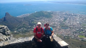 Table Mountain top with Caroline & Wim